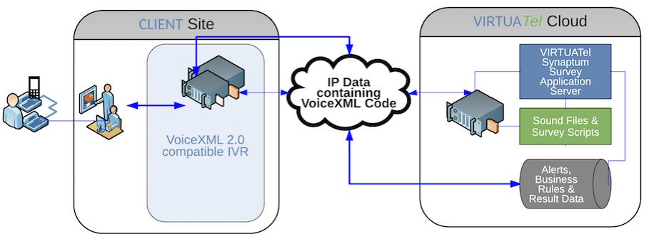 Instant automated telephone survey API for VXML 2.0 IVR
